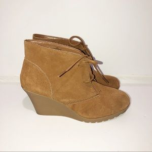 """Merona """"Target brand"""" micro suede lace up bootie"""
